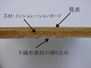 薄畳の断面