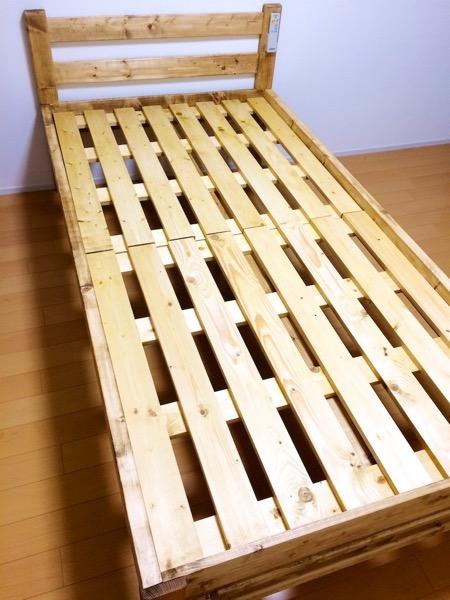 自作ベッドのフレーム