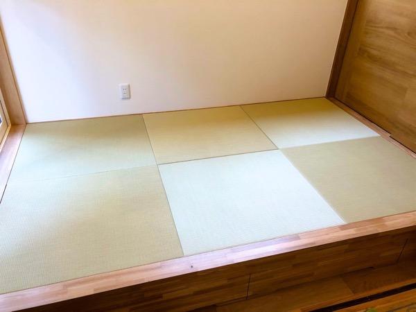 畳を入れた和室スペース