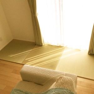 畳の寝心地をリビングで再現。匂いや質感にも満足