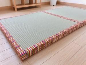 繧繝縁(うんげん)を付けたサイズオーダー置き畳の制作をしました