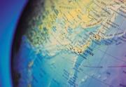 Japan on Globe