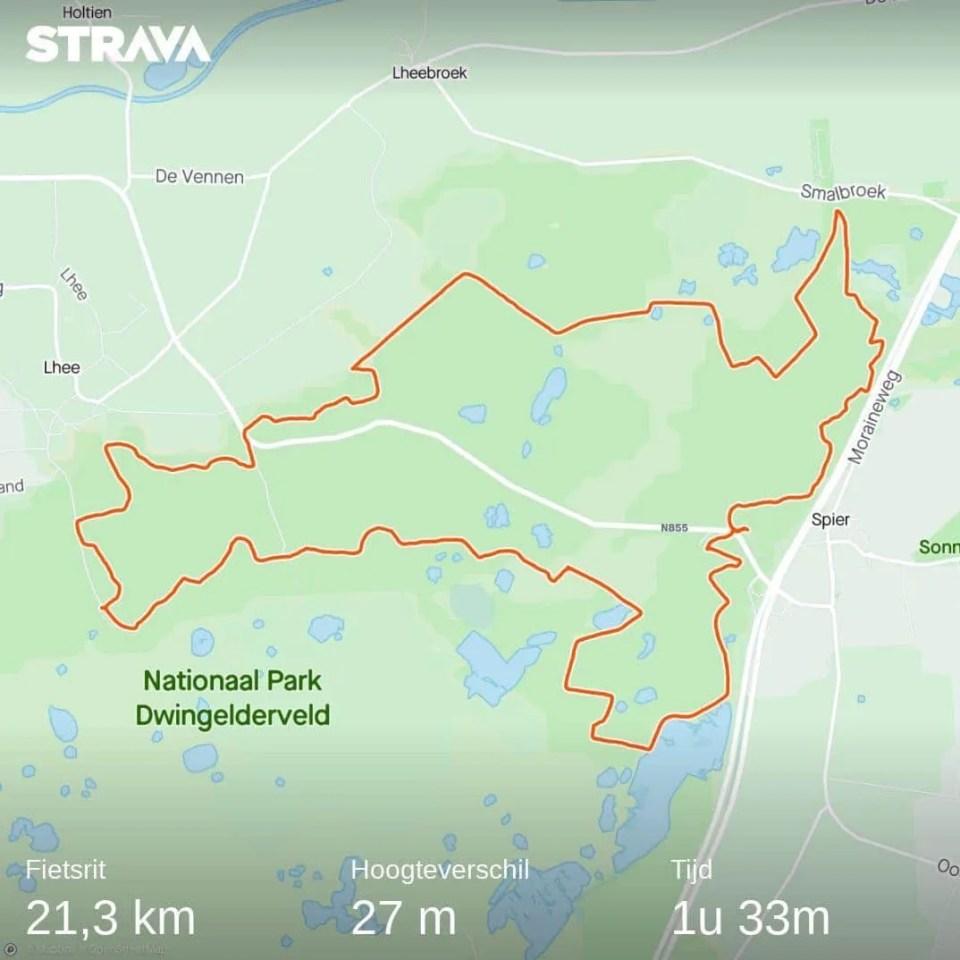 mountainbikeroute dwingelderveld