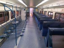 Completed bike train car (Credit: MARC)