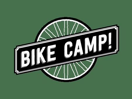 bike camp logo over transparent