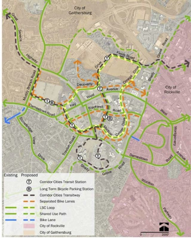 Proposed Life Sciences network from Montgomery Planning