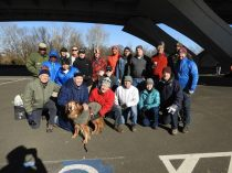 Huge thanks to our volunteers and the NPS staff who helped out (and Bob the dog for stopping by)!