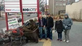 Just a few of our fabulous volunteers, posing near Rhode Island Ave. NE.