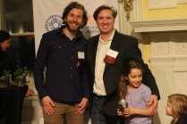 Presenter Matt Liddle, and award winner Mark Blacknell