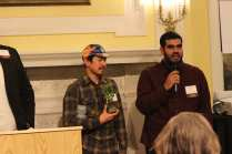 Accepting the Biking For All Award on behalf of Phoenix Bicycles was Shop Manager, Edoardo Buenaobra, and Program Assistant, Raymond Duran.