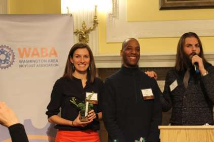 The Volunteer of the Year Award went to WABA in the Wild volunteers Lauren Anneberg and Michael Avilez.