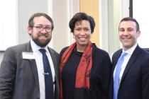 WABA Executive Director Greg Billing, Mayor Muriel Bowser and DDOT Director, Jeff Marootian