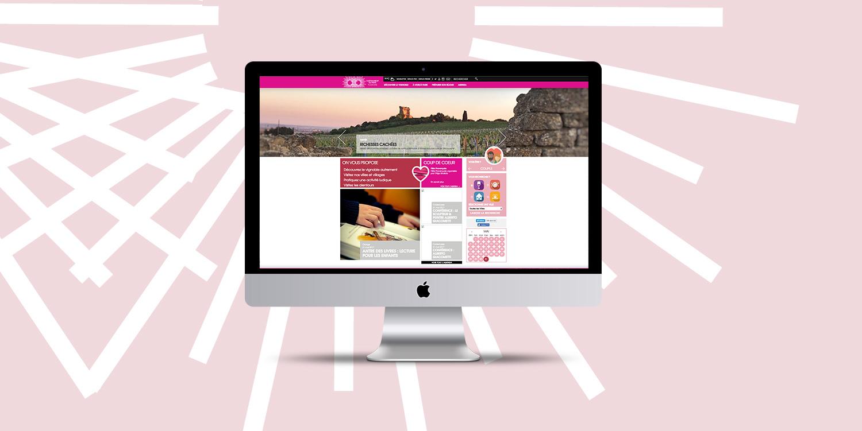 Page d'accueil du site de Châteauneuf-du-Pape Tourisme