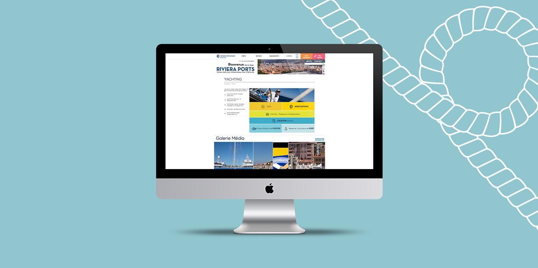 Riviera Port, création de site web - Agence Wacan