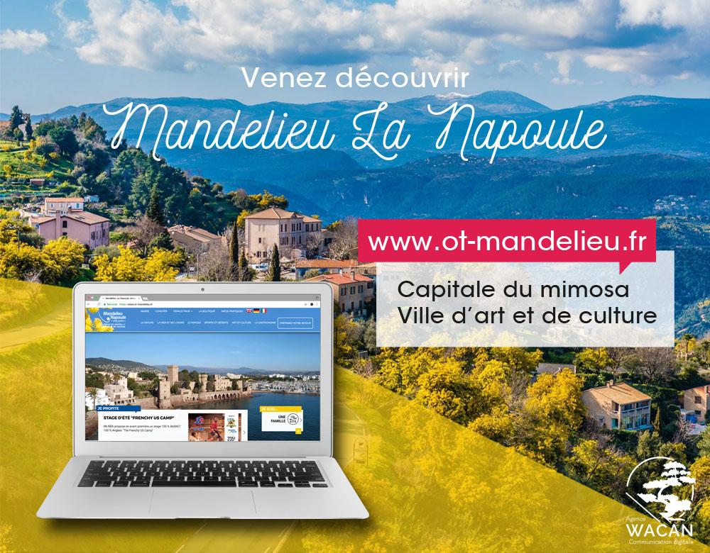 Un nouveau site pour l'Office de Tourisme de Mandelieu