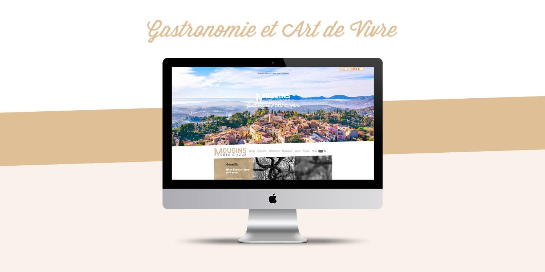 Page d'accueil de Mougins Tourisme