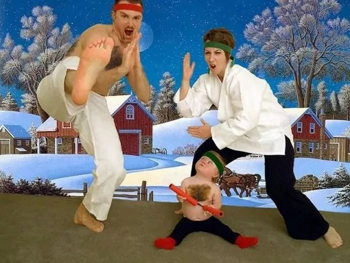 The 50 Most Awkward Family Christmas Photos That are Hilarious -02