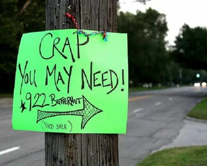 25 Brilliant Yard Sale Signs That are Mind Blowing -05