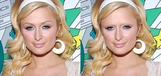 celebs-with-and-without-eyebrows-Paris-Hilton
