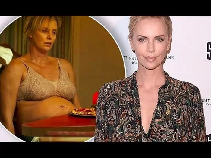 "Charlize Theron Before and After Gaining 50 Pounds for ""Tully"" Movie"