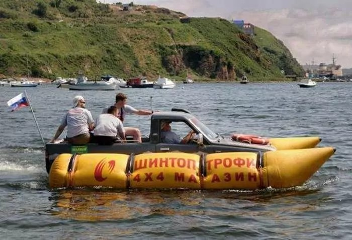 Funny Pictures - Car Or Boat - 6 Photos -02