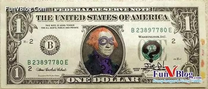 11 Mind-blowing Funny Paintings on US Dollar Bill -13