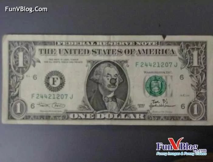 11 Mind-blowing Funny Paintings on US Dollar Bill -19