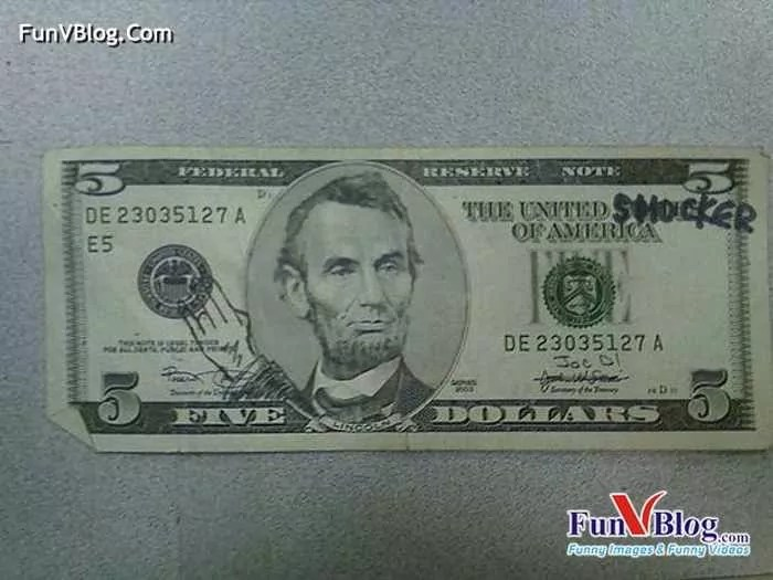 11 Mind-blowing Funny Paintings on US Dollar Bill -22