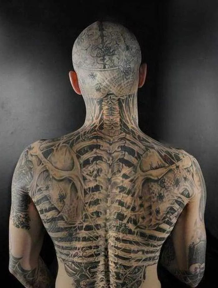 Zombie Boy Rick Genest : Full Body Covered With Tattoo-21