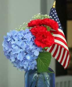 4th of July table centerpeice decoration