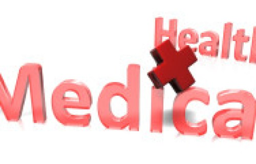 Health medical logo red