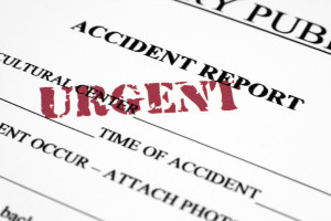 Accident report photo