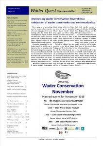 Wader Quest Newsletter - July 2015