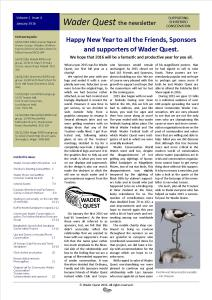 Wader Quest Newsletter - January 2016