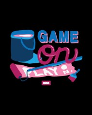 GAME ON TEE BACK