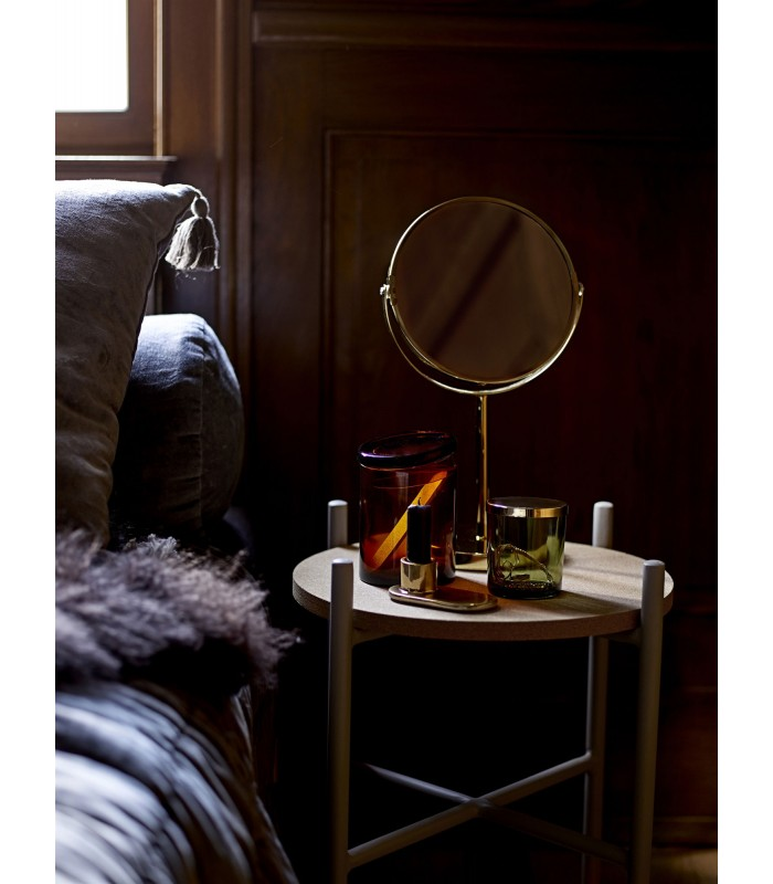 Miroir Grossissant Sur Pied En Metal Dore Wadiga Com