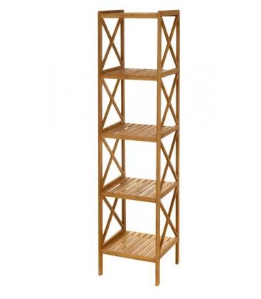 etagere bambou 5 plateaux