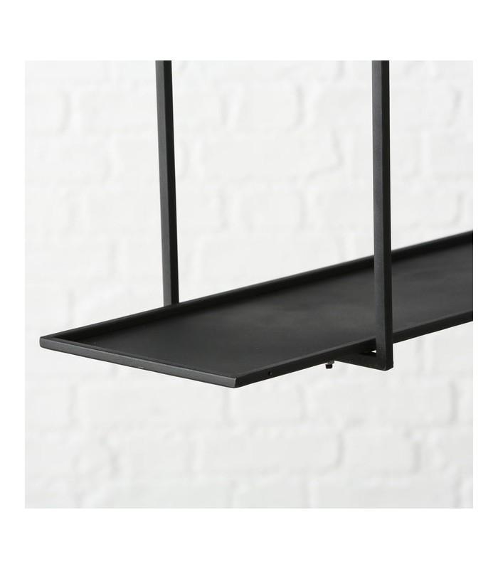 etagere a suspendre en fer laque noir
