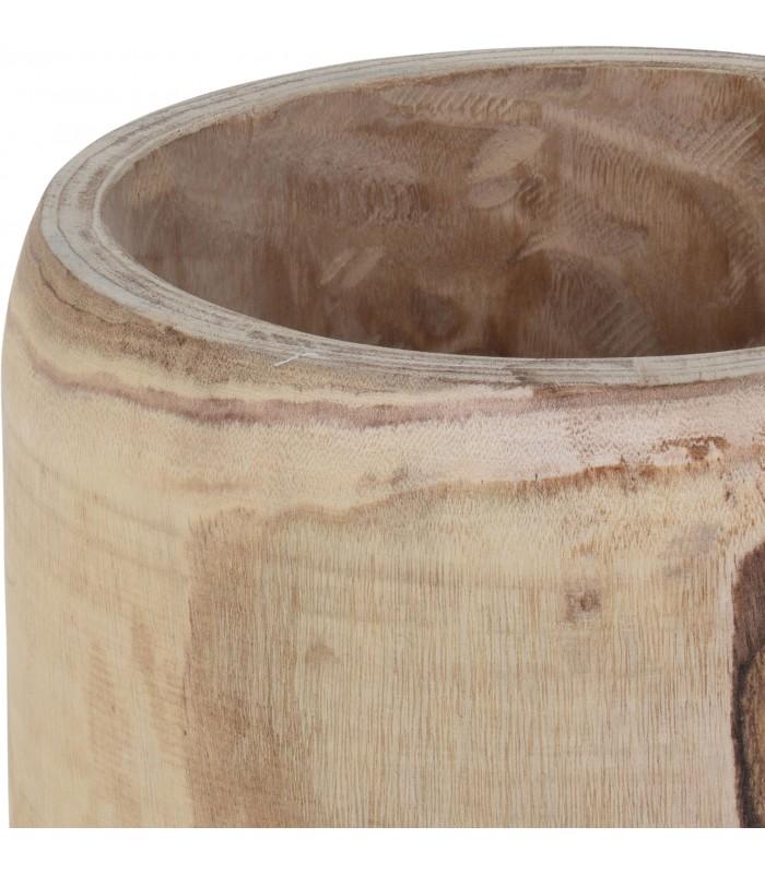 cache pot rond en bois