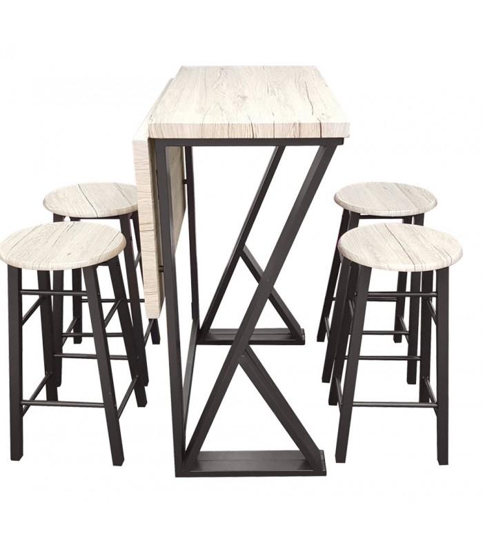 table haute de bar style usine en bois
