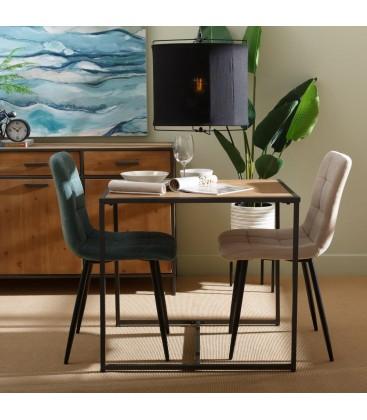 table salle a manger en bois et metal style industriel