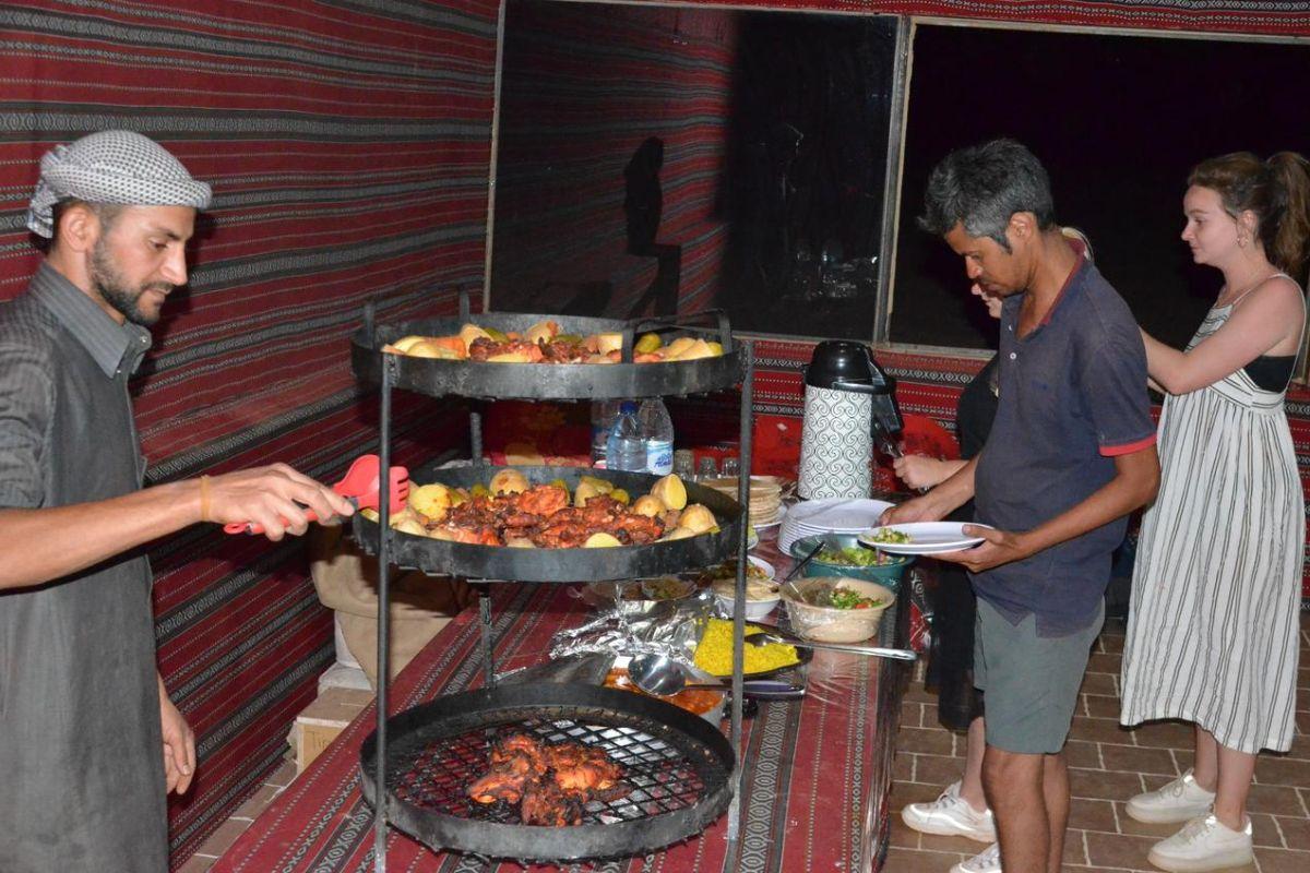 camp dinner - zarb
