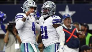 Prescott went 25 for 32 with 405 yards and 4 TDs in Week 1