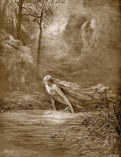 G. Doré, Dante at the river Lethe, c. 1880 [www.waggish.org]