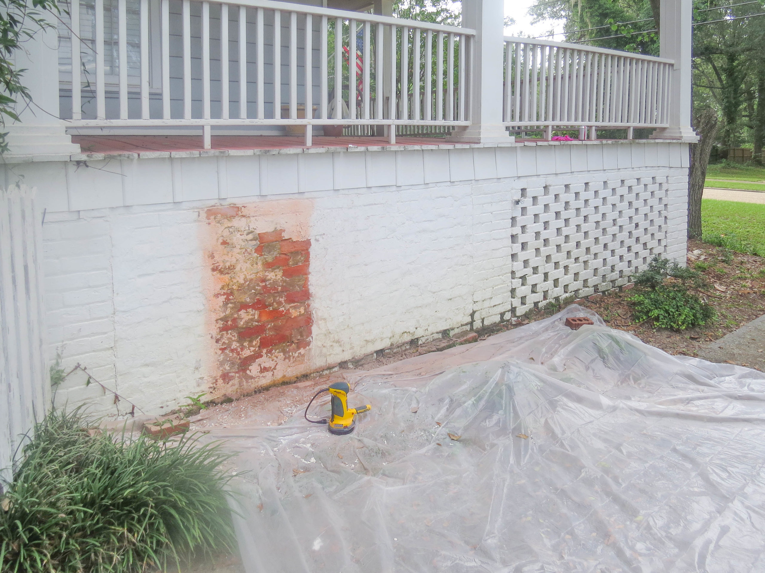 to remove paint from brick concrete