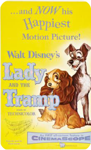 Movies about dogs - The Lady and the Tramp