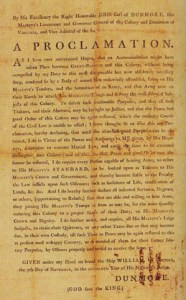 Lord Dunmore's Proclamation 1775