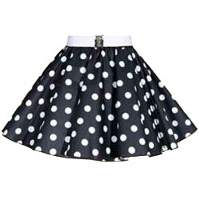 Sale – 18″ Black/White Polkadot Circle Skirt (XSmall)