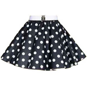 Sale – 18″ Black/White Polkadot Circle Skirt (XSmall)