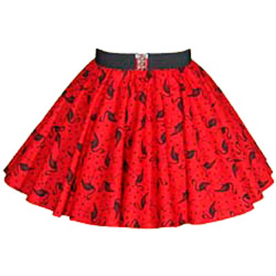 Childs Red Flamingos Print Circle Skirt